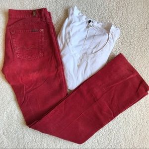 7 for all Mankind - Corduroy Pants (Rusty Red)